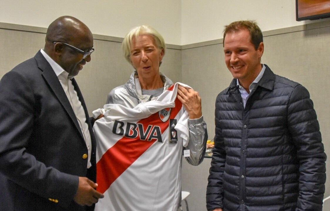 En marzo Lagarde visitó el Monumental / Foto: River Plate