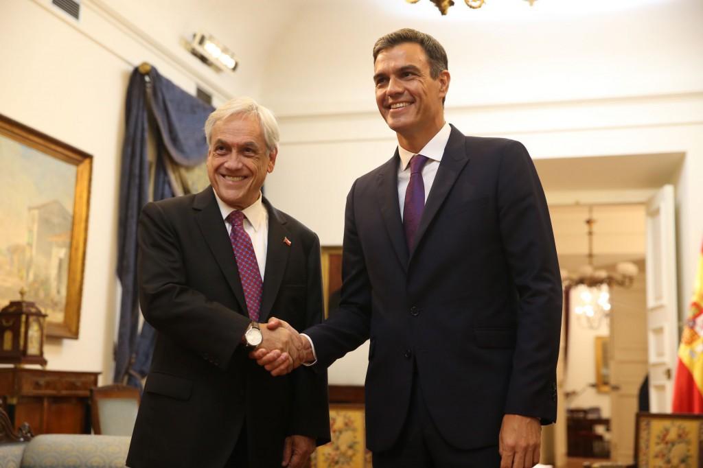 Sánchez se reunió en Chile con el neoliberal Sebastián Piñera / Foto: Moncloa