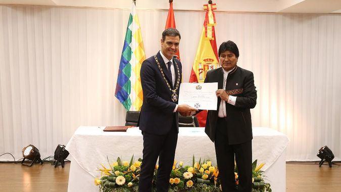 En Bolivia, Sánchez firmó acuerdos, enfatizando en lo económico / Foto: Moncloa