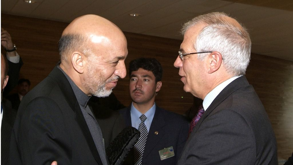 Borrell tiene en la retina una frase del presidente afgano / Foto: PE