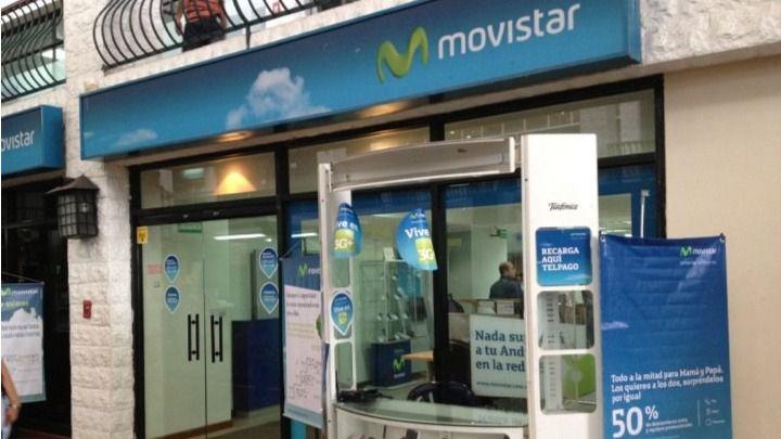 En dos tiendas Movistar se acepta dash / Foto: Foursquare