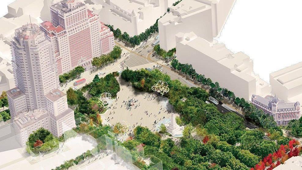El proyecto de Plaza de España llega hasta Madrid Rio y El Parque del Oeste / Foto: Welcome Mother Nature