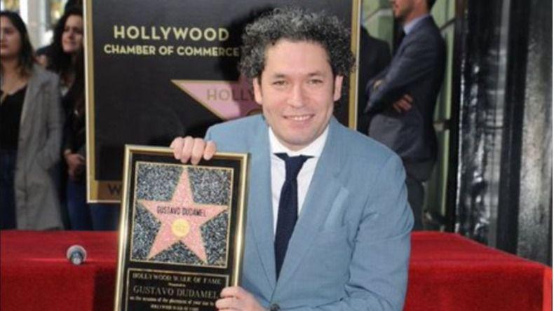 Dudamel ya tiene su estrella en el paseo de la Fama de Hollywood / Twitter: @WalkofFameStar