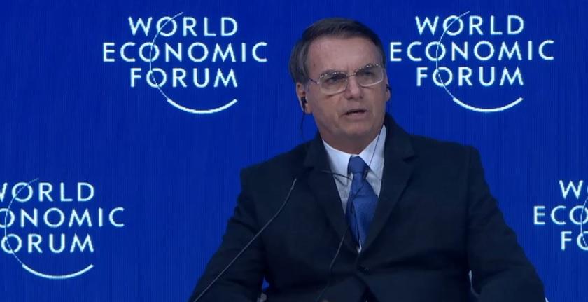 Jair Bolsonaro no quiere que la izquierda prevalezca en Suramérica / Foto: Captura WEF