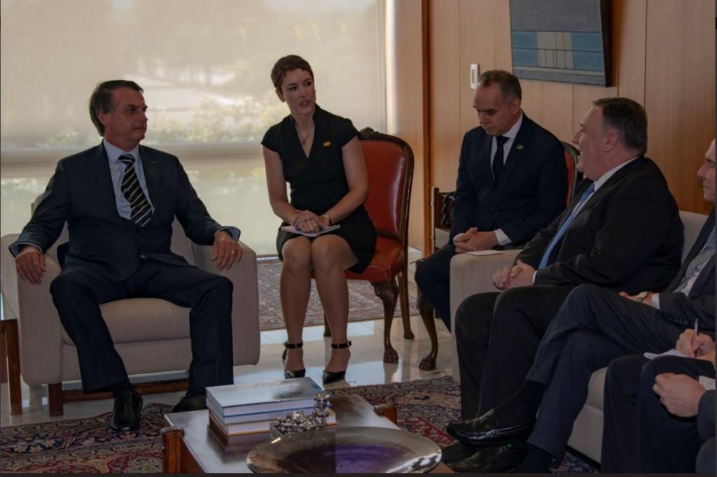 El secretario de Estado, Mike Pompeo, invitó a Bolsonaro a Washington / Foto: @SecPompeo