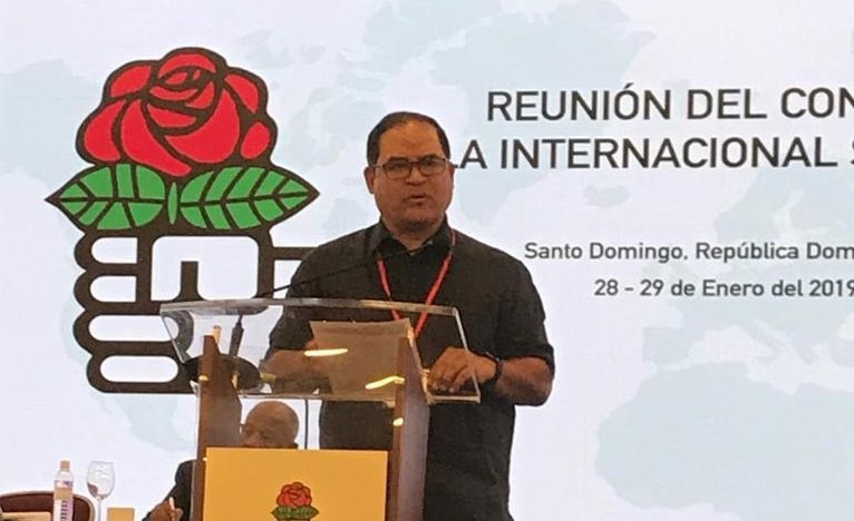 Valero expuso la crisis venezolana en la Internacional Socialista / Foto: @CarlosValero08