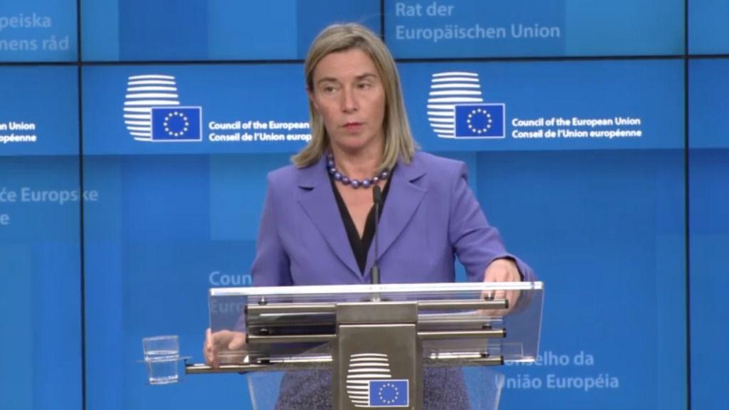 Mogherini habla sobre el Grupo Internacional de Contacto / Foto: Captura UE