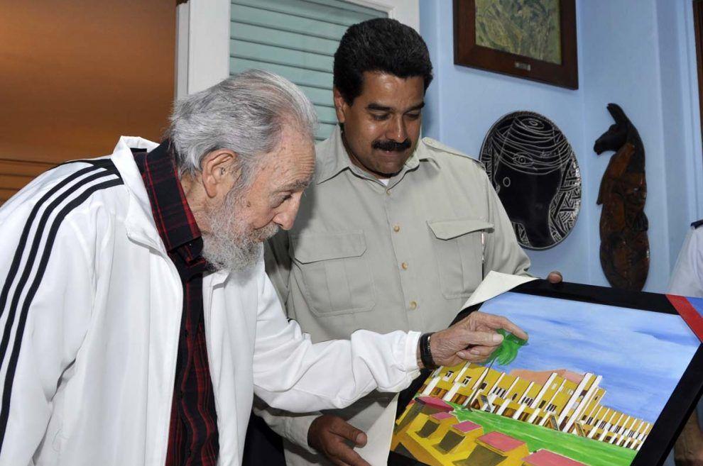 Maduro y Fidel Castro