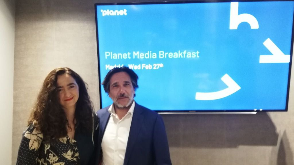 Magdalena Martos y Jorge Esteban presentaron el informe de Planet / Foto: ALN