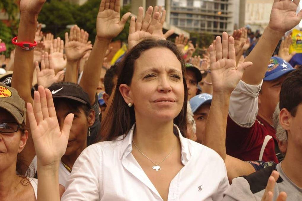 María Corina Machado lidera el partido Vente Venezuela / Foto: @MariaCorinaYa