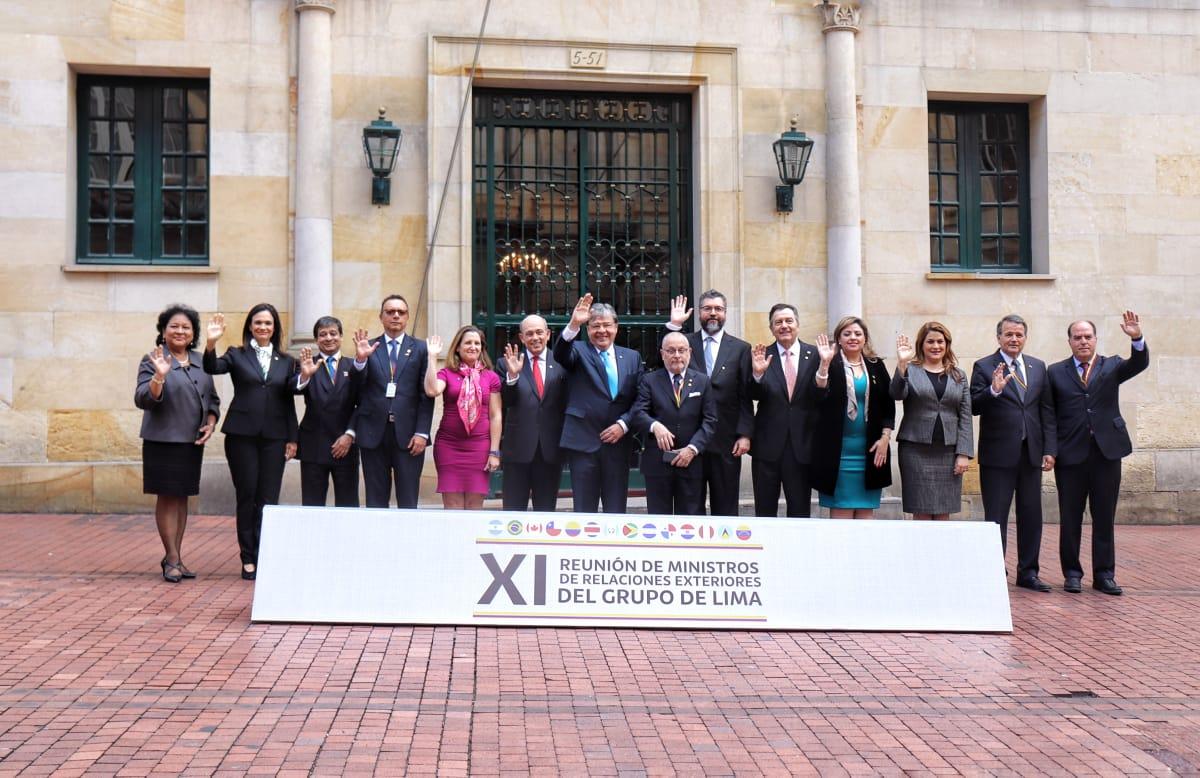 El Grupo de Lima no quiere falsos diálogos con el régimen / Foto: Cancillería de Colombia