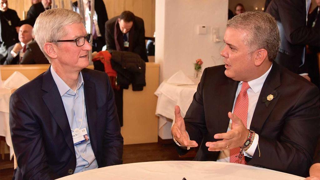 Duque se reunió con el CEO de Apple / Foto: Presidencia Colombia