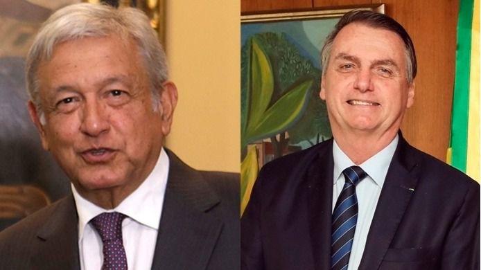 Lopez Obrador y Bolsonaro