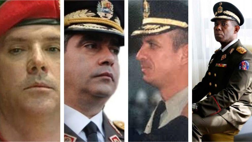Los cuatro hombres que un día protegieron a Maduro se volvieron en su contra / Montaje: ALN