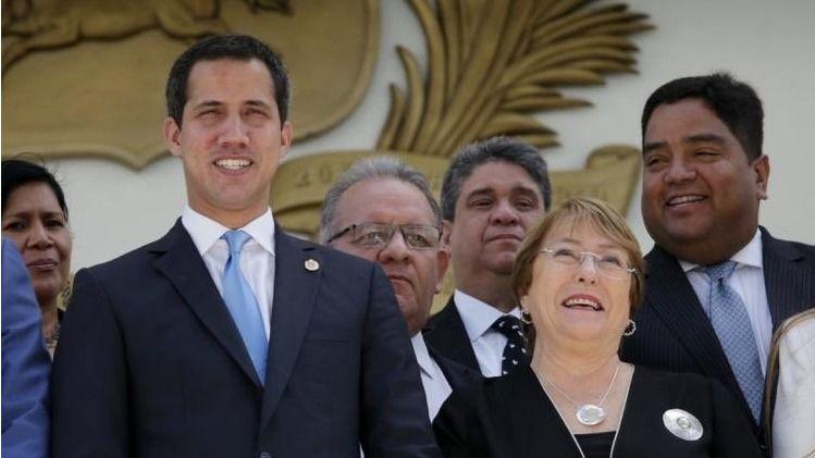 Los negociadores de Guaidó utilizan el informe Bachelet para presionar / Twitter: @jguaido