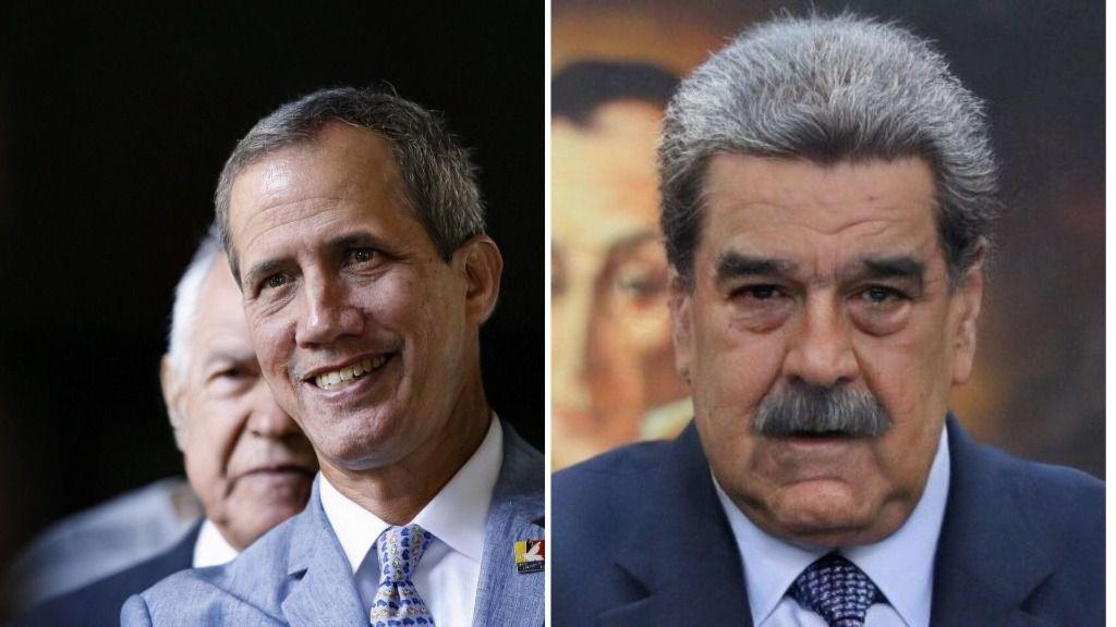 Así se ven con FaceApp los rostros de Guaidó y Maduro de viejos / Foto: FaceApp