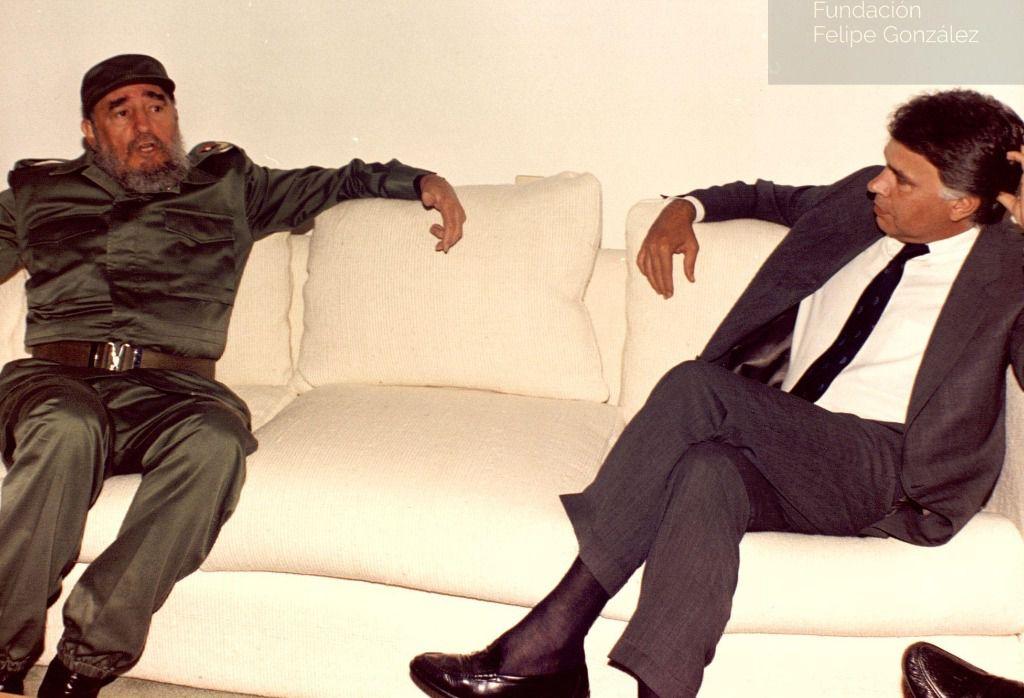 Fidel Castro y Felipe Gonzalez