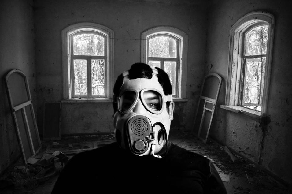 Arispe se tomó un selfie en una casa abandonada en Chernóbil / Foto: Ricardo Arispe