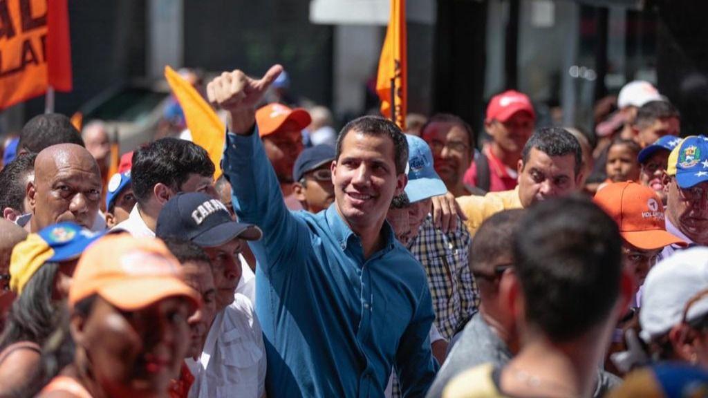 La presión contra el régimen de Maduro es total en este momento / Twitter: @jguaido