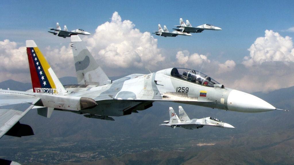 Aviones Sukhoi, de origen ruso, los cazabombarderos emblemas de la Fuerza Aérea de Venezuela / Foto: FAN