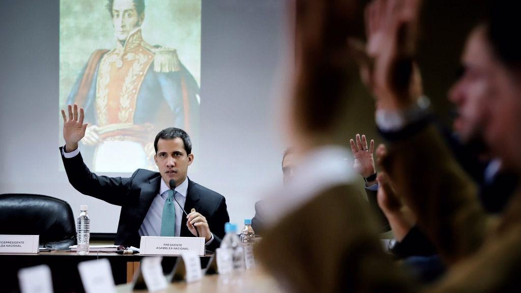 Juan Guaidó, presidente encargado, ha sido reafirmado en su cargo al frente de la AN. /Foto: @jguaido