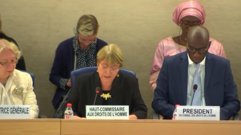 Bachelet actualizó su informe sobre Venezuela este lunes en Ginebra / Foto: ONU