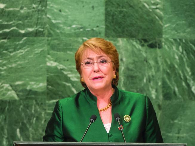 Bachelet habla de amenazas a quienes cooperaron con su Oficina / Foto: ONU