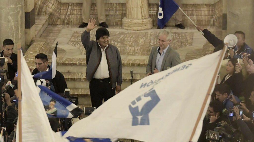 Evo Morales se queda en el poder porque se considera imprescindible / Foto: @evoespueblo