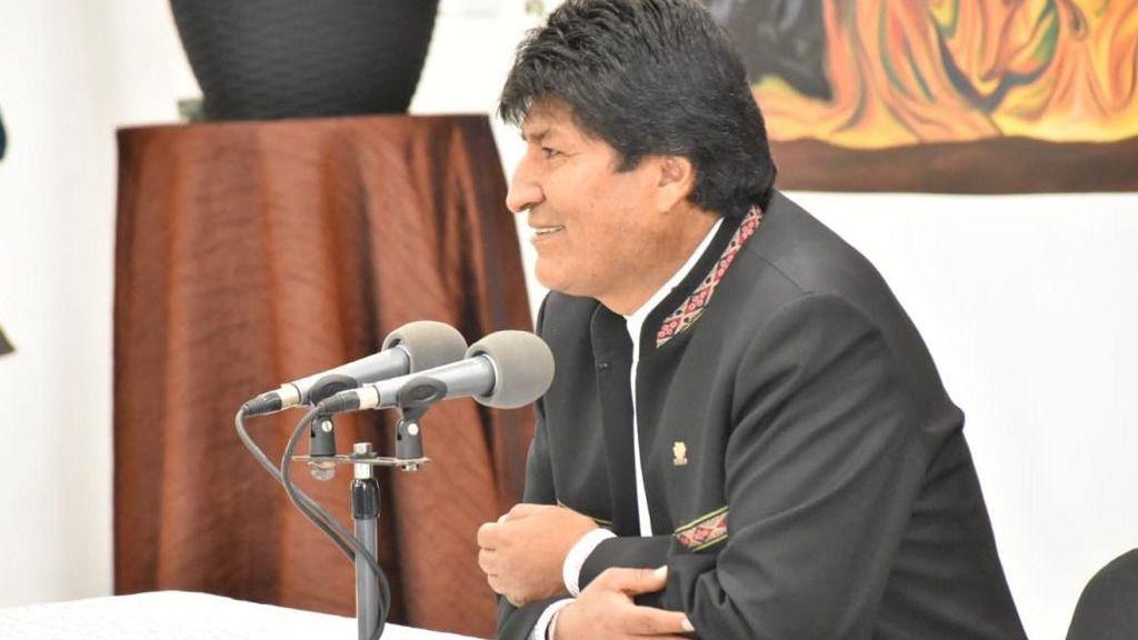 Evo Morales llama delincuente a Carlos Mesa / Foto: @evoespueblo