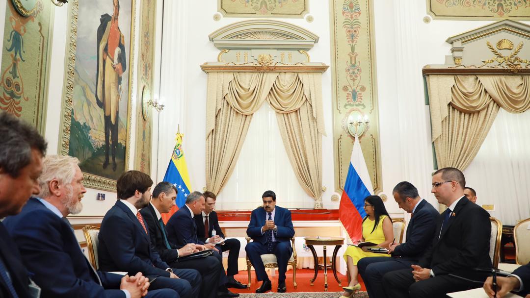 Maduro recibió al viceprimer ministro ruso por todo lo alto / Foto: Prensa Presidencial