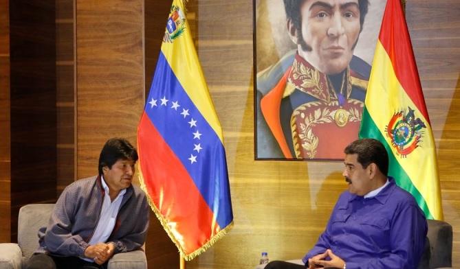 Maduro y Morales estarían detrás de las supuesta red de desestabilización / Foto: Prensa Maduro