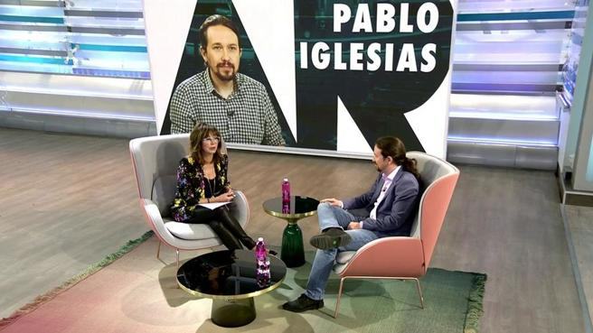 Pablo Iglesias discrepa con la posición de Pedro Sánchez y el PSOE / Foto: Mediaset