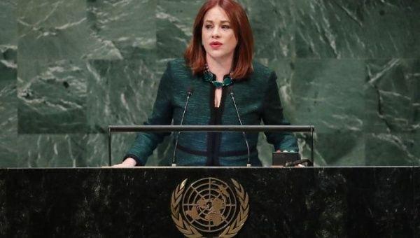 María Fernanda Espinosa se alinea claramente dentro del prochavismo / Foto: ONU