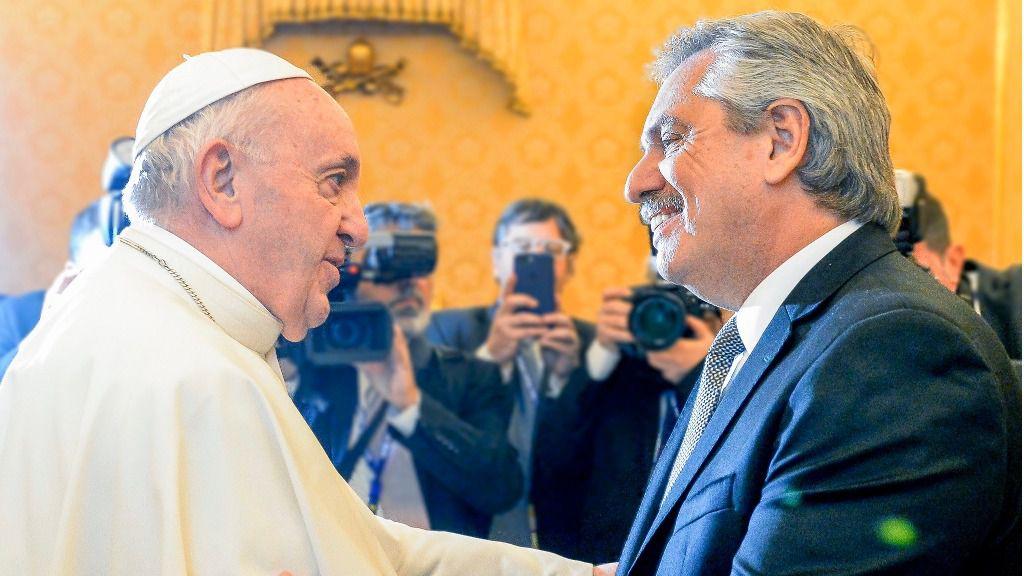 La crisis humanitaria preocupa al Papa y a Alberto Fernández / Foto: Casa Rosada