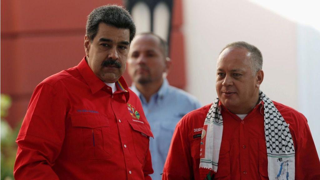 Cabello y Maduro destacan el problema de las sanciones en tres vías / Foto: PSUV