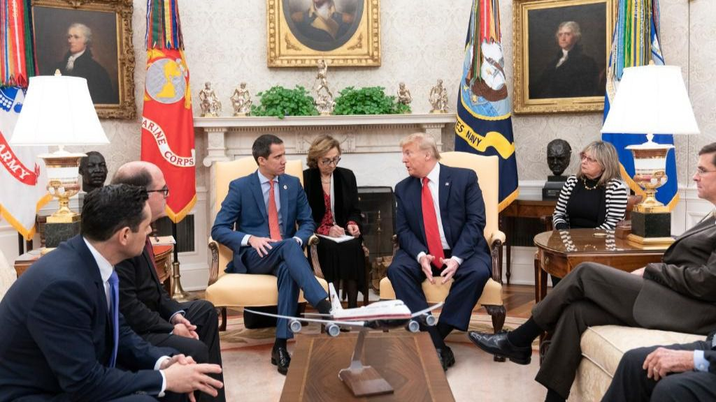 Trump quería escuchar de la propia voz de Juan Guaidó la situación de Venezuela / Foto: CCN