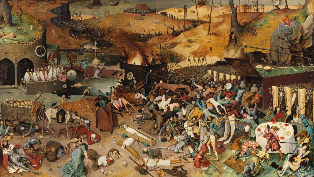 Peter Brueghel plasmó la peste negra en su cuadro El triunfo de la muerte / Foto: WC
