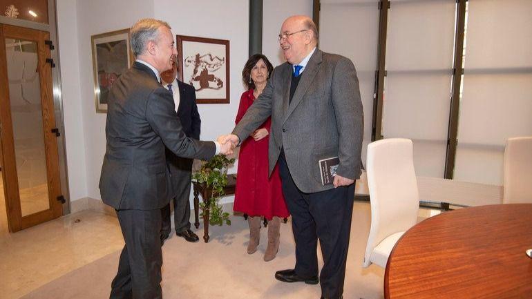 Antonio Ecarri se reunió con el Lehendakari, Iñigo Urkullu / Foto: @DiplomaciaVE_ES