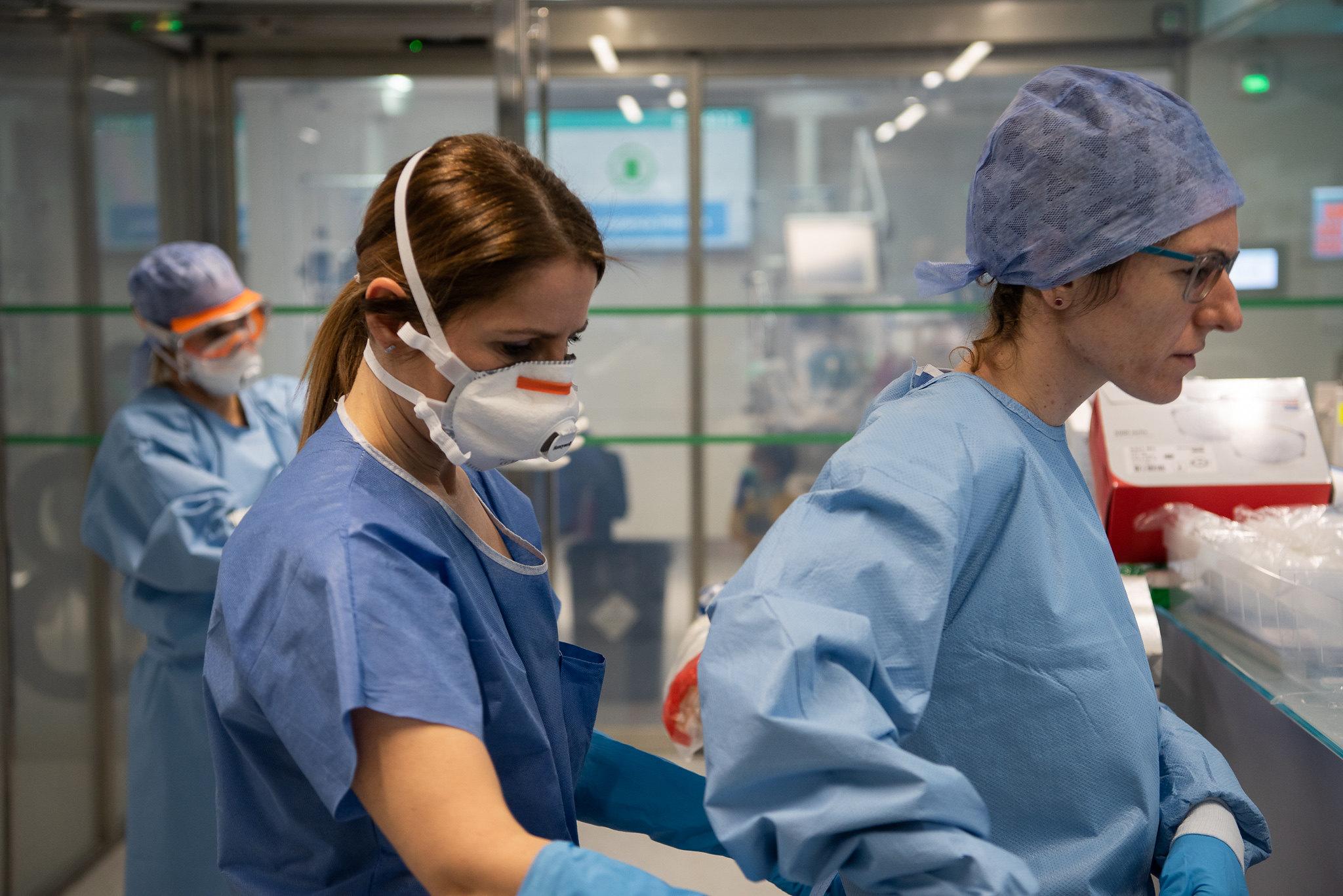 Los muertos por coronavirus repuntan otra vez / Foto: Hospital Clinic