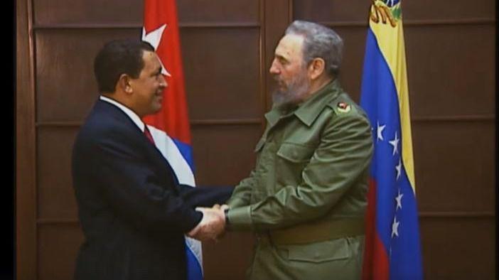 Chávez le entregó el país a Fidel Castro / Foto: Captura