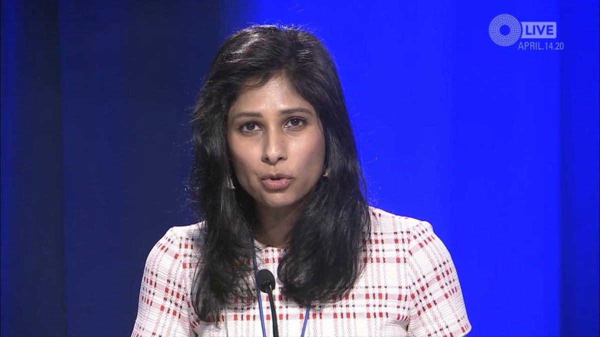 """Gita Gopinath: """"También exploramos escenarios alternativos y más adversos"""" / Foto: FMI"""