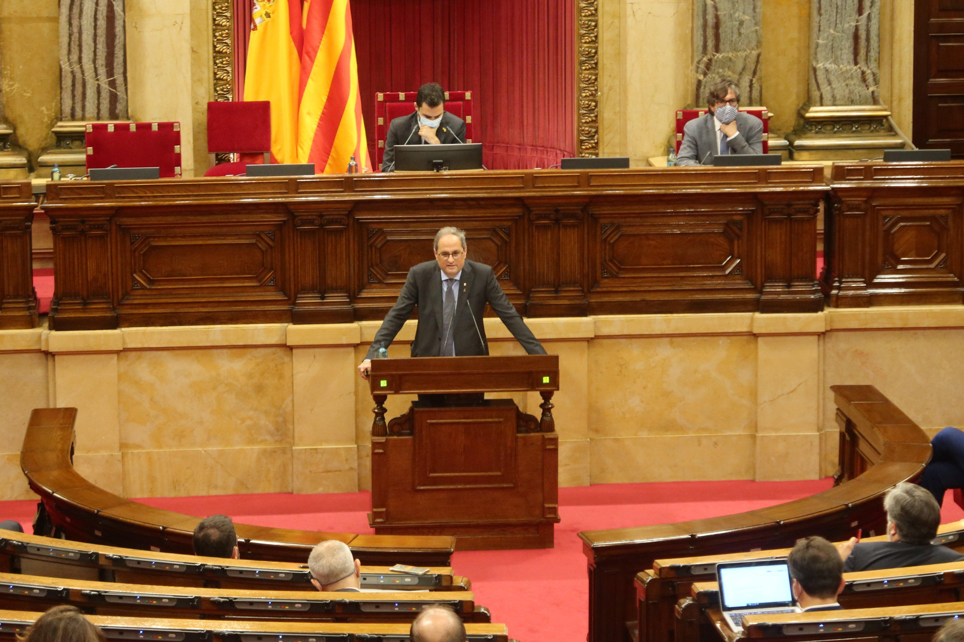 Torra es el tercer president de la Generalitat en salir por la puerta de atrás / Foto: Parlament