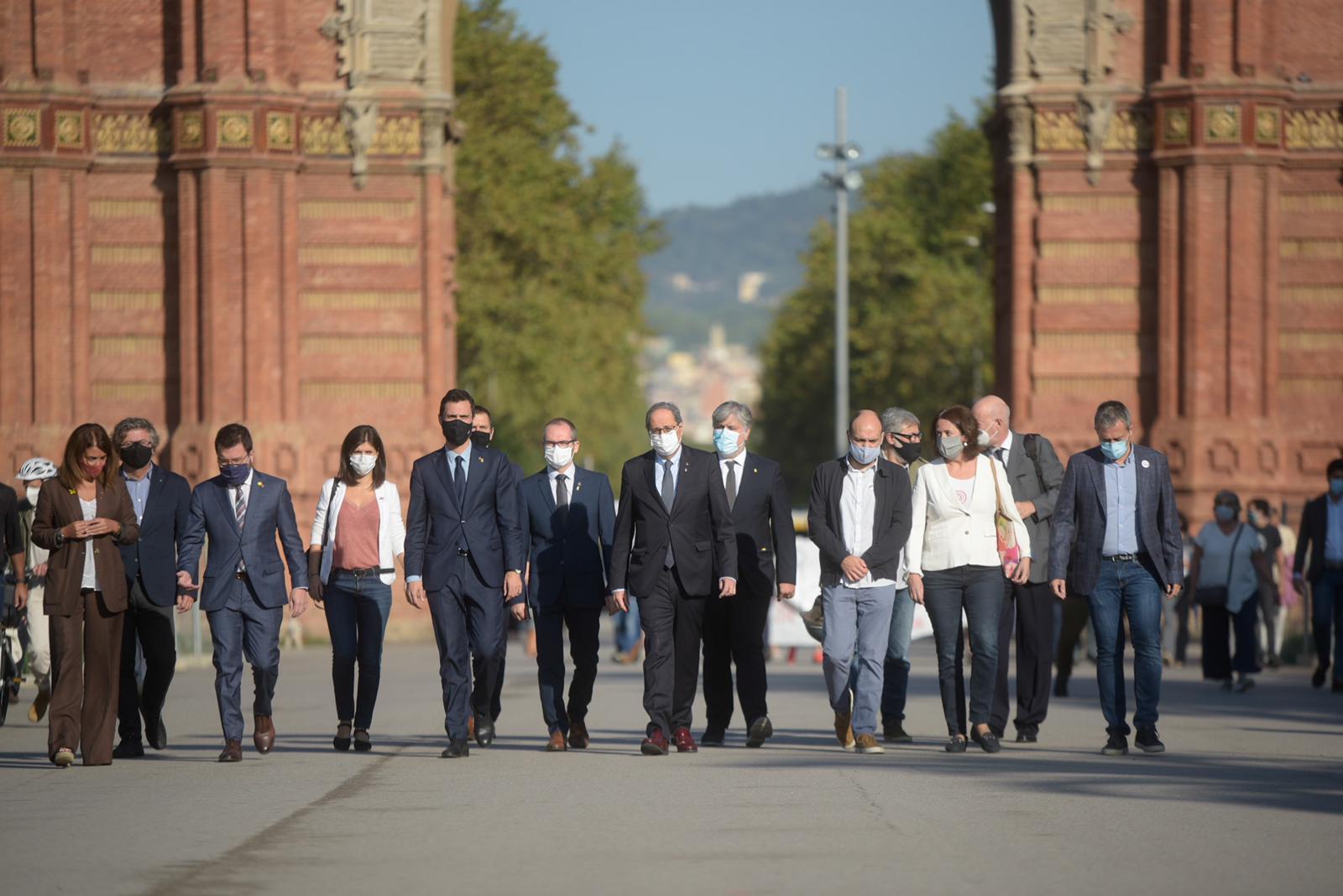 El gobierno de Quim Torra es fruto de una coalición independentista heterogénea / Foto: ERC