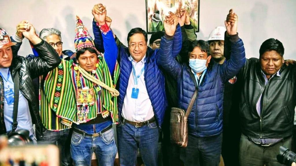 Ya se da por hecha la victoria de Luis Arce / Foto: MAS