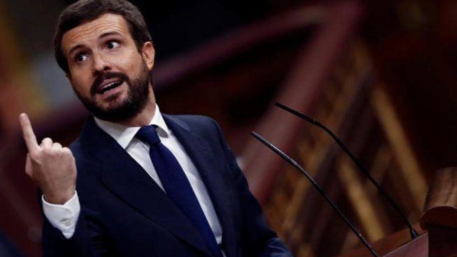 Pablo Casado arremete contra Vox y Abascal / Foto: Congreso