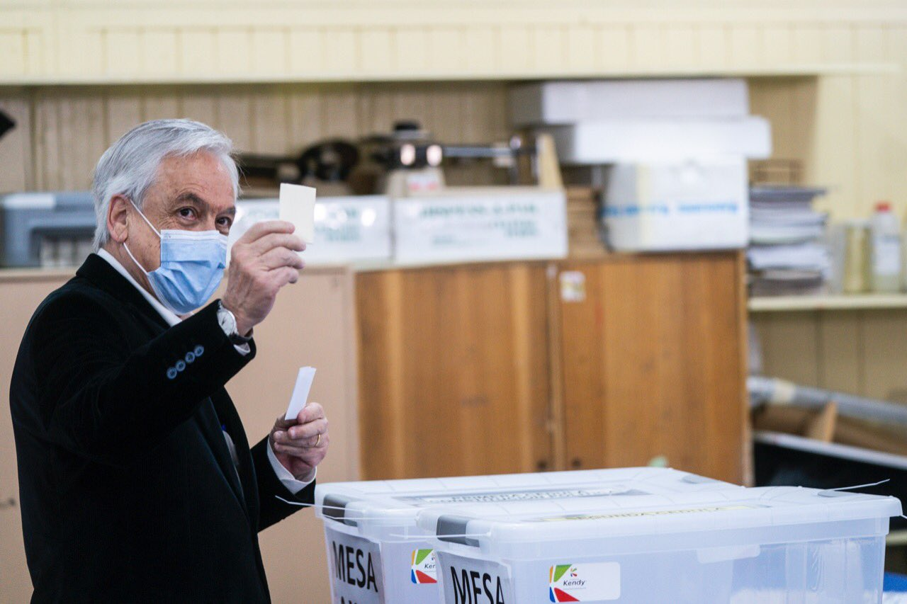 "Sebastián Piñera se refirió al plebiscito como ""un día histórico"" / Foto: Presidencia"