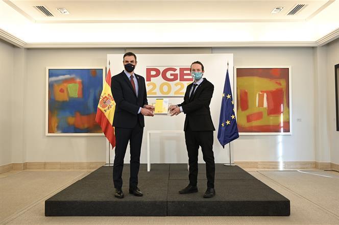 Pedro Sánchez y Pablo Iglesias buscan mostrar la solidez de la coalición gobernante / Foto: Moncloa