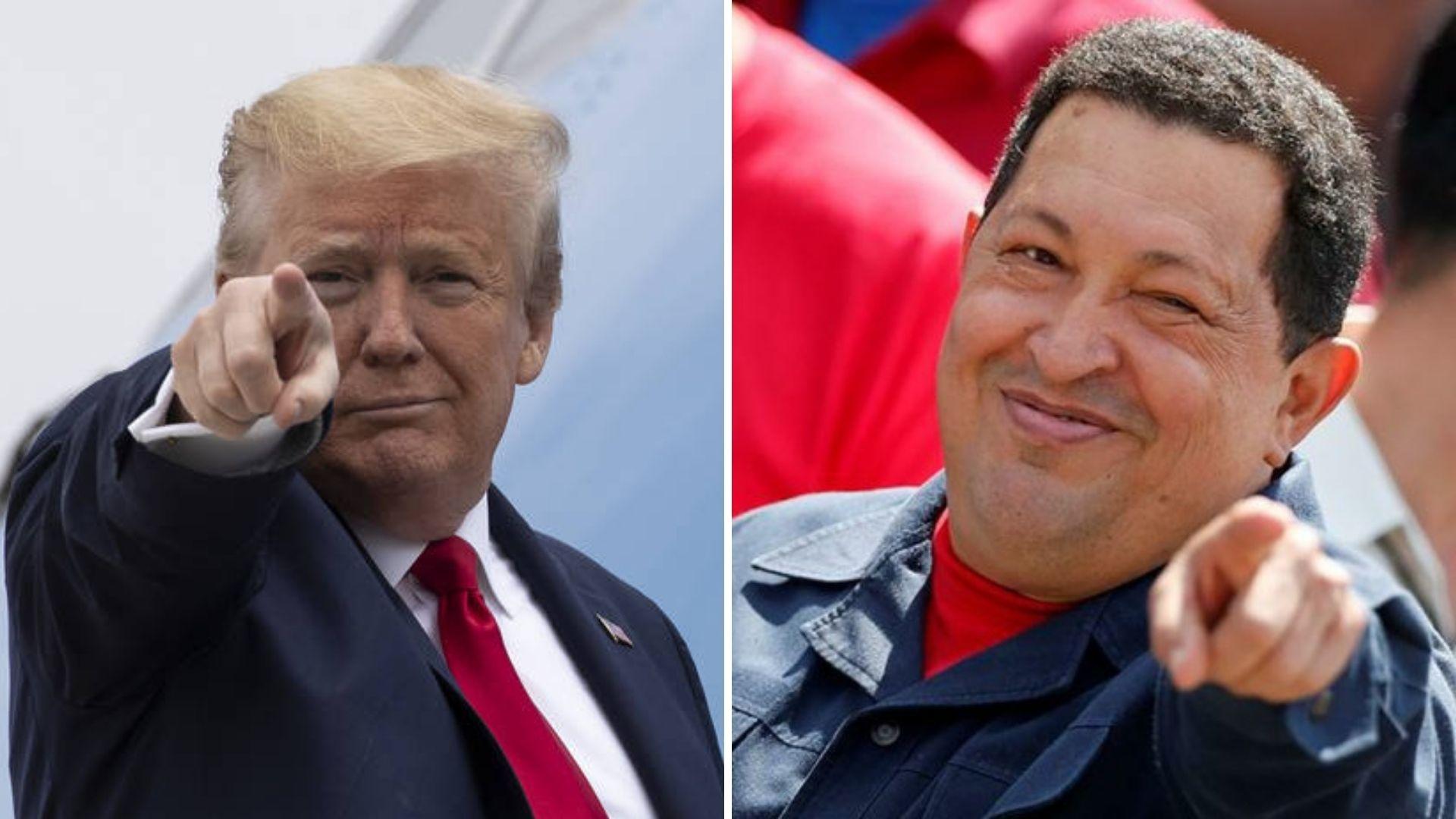 Trump y Chávez están en las antípodas ideológicas pero se parecen en el estilo / Montaje: ALN