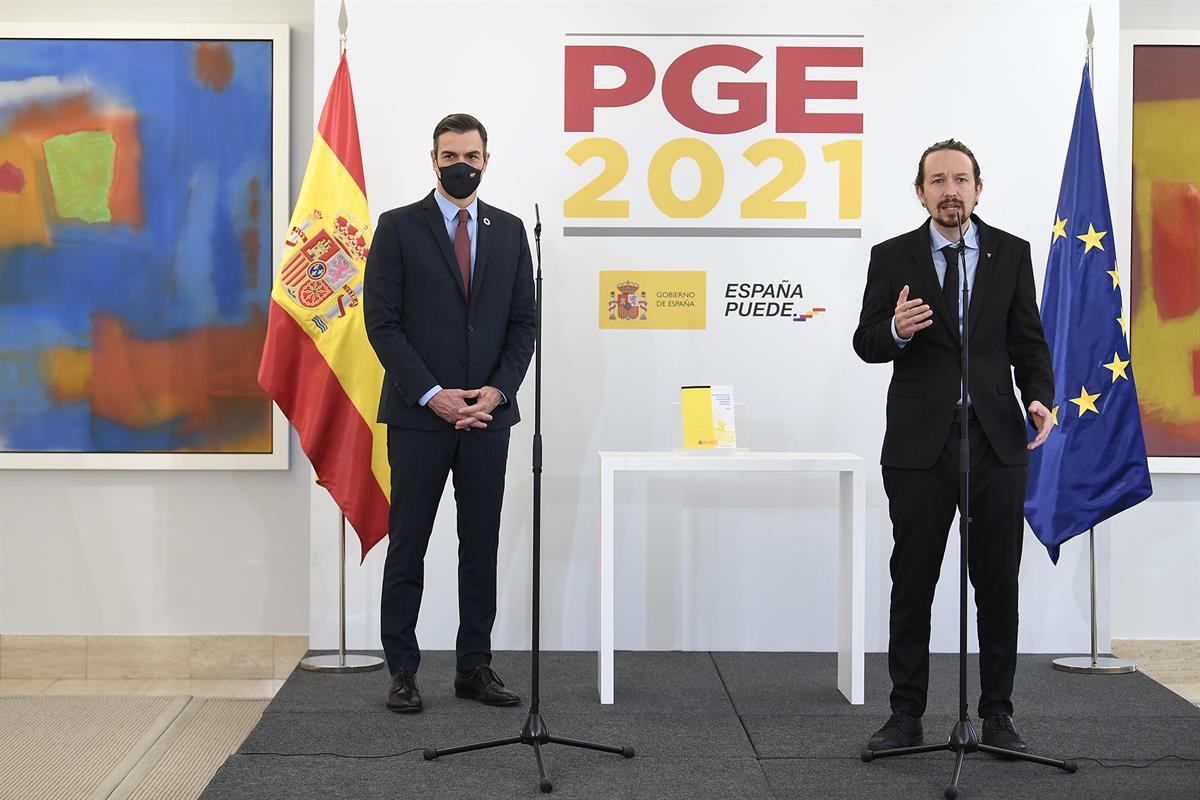 Con sus gestos Pablo Iglesias ha pretendido marcar diferencias con el PSOE / Foto: Moncloa
