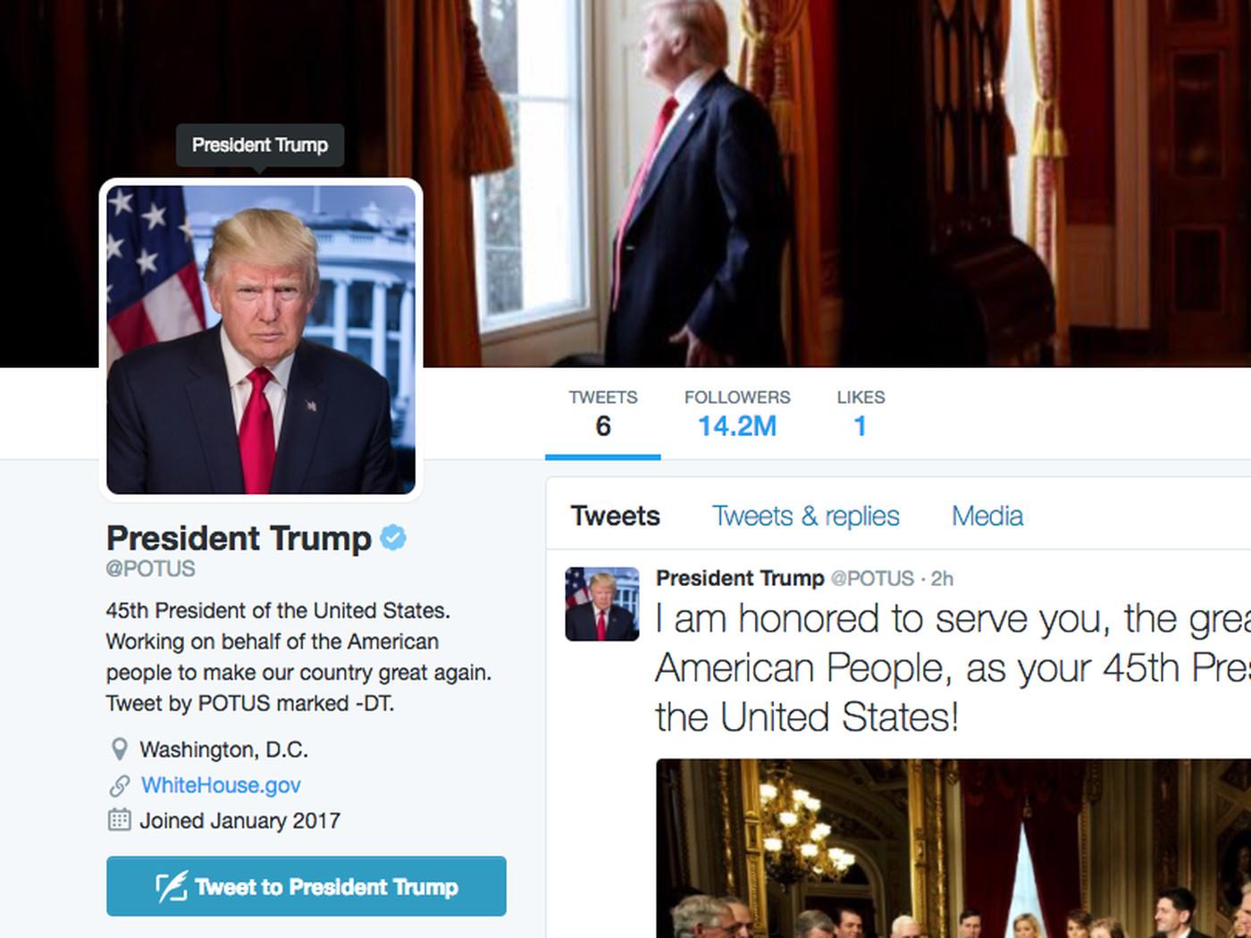 En enero de 2021 la cuenta de @POTUS será para Biden / Foto: Captura Twitter